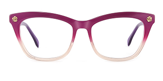 6886 maxine Rectangle red glasses