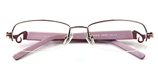 7191 Russell Rectangle pink glasses