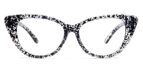 7351 Adele Cateye black glasses