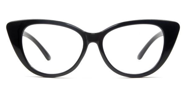 7352 Anne Cateye black glasses