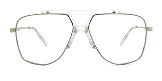 7484 Obharnait Aviator clear glasses