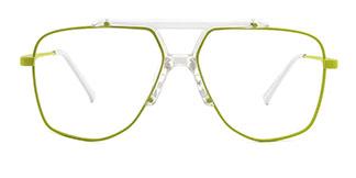 7484 Obharnait Aviator green glasses