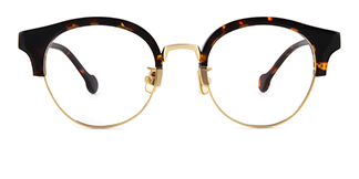 77018 Amandi Round tortoiseshell glasses