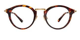 77019 Amador Round tortoiseshell glasses