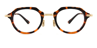 77021 Alyson Geometric tortoiseshell glasses