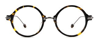 77022 Amanad Round tortoiseshell glasses