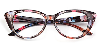 77042 Felice Cateye floral glasses