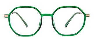 7904 Jordan Geometric green glasses