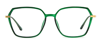 7905 Annis Geometric green glasses