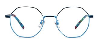 80018 Annamarie Geometric blue glasses