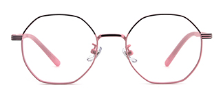 80018 Annamarie Geometric pink glasses
