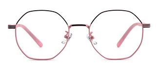80018 Annamarie Geometric pink glasses