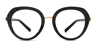 800381 Florinda Cateye black glasses