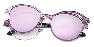 8029 Beads Geometric purple glasses