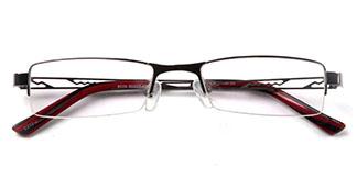8039 Barnett Rectangle red glasses