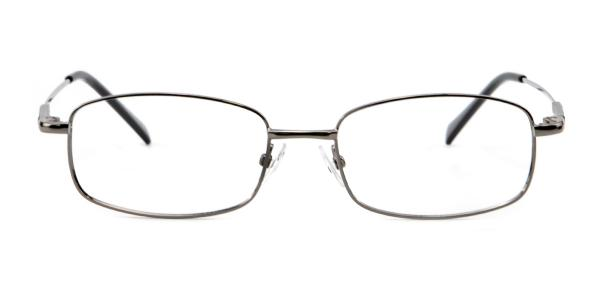 8052 Paul Rectangle silver glasses