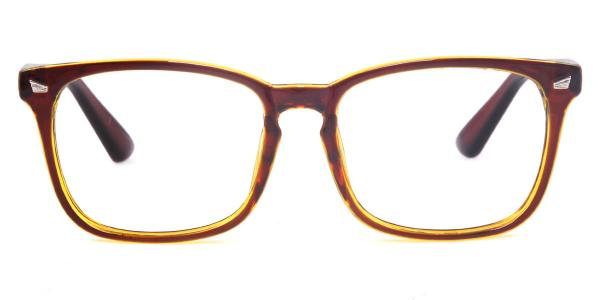 8082 Beverly Rectangle brown glasses