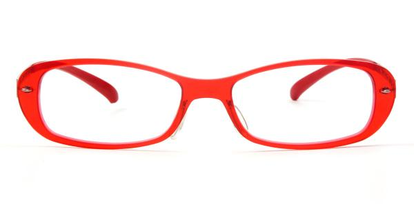 80A18 Brittany Rectangle red glasses
