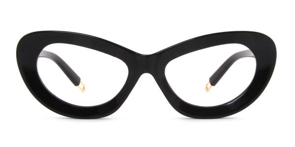 813027 Belinda Cateye black glasses