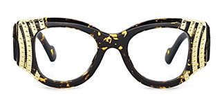 8179 Wilding Geometric tortoiseshell glasses