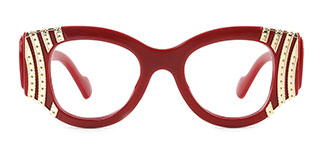 8179 Wilding Geometric red glasses