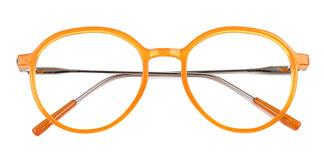 82028 Leda Oval orange glasses