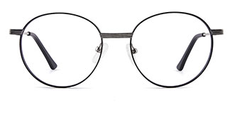 8223 tiffany Round black glasses