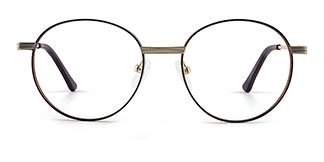 8223 tiffany Round gold glasses