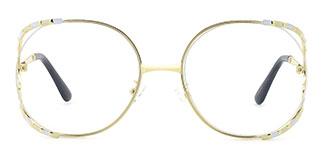 85101 Kearney Oval white glasses