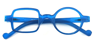 8521 Maye Geometric blue glasses