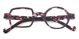 8521 Maye Geometric purple glasses