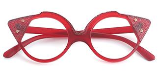 8538 Stella Cateye red glasses