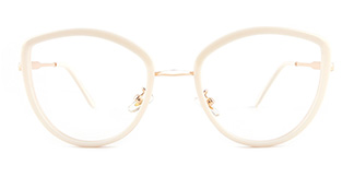 86041 Eileen Cateye white glasses