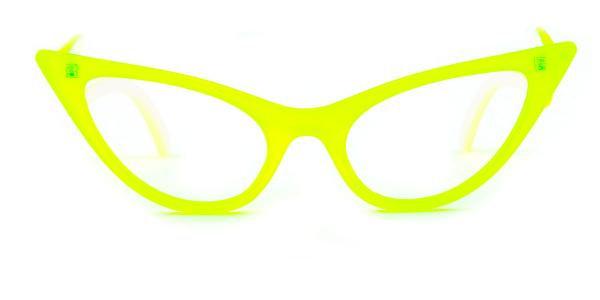 86262 Ivy Cateye yellow glasses