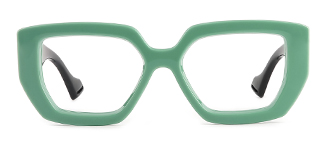 86320 Annabell Geometric green glasses