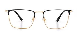 8638 Leta Rectangle gold glasses