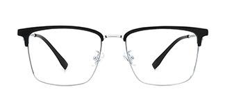 8663 Maisie Rectangle black glasses