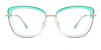 87030 Verna Cateye green glasses