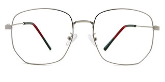 88189 Qiana Geometric silver glasses