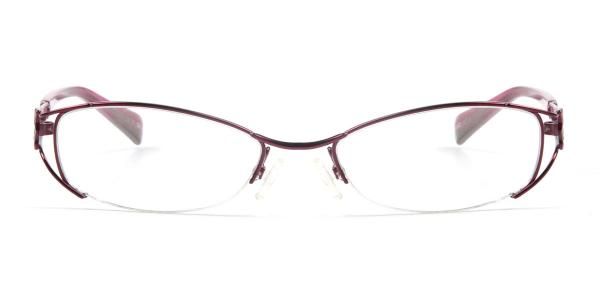 8819 Amaryllis Oval purple glasses