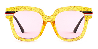 8836 Palms Rectangle yellow glasses