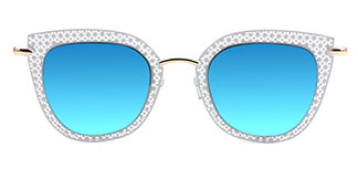 8840 Percey Cateye gold glasses