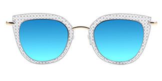 8840 Percey Cateye white glasses