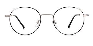 8881 Angil Cateye,Round black glasses