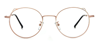 8881 Angil Cateye,Round gold glasses