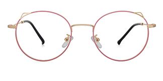 8881 Angil Cateye,Round pink glasses