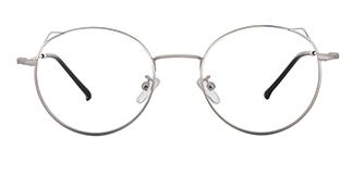 8881 Angil Cateye,Round silver glasses