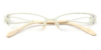8933 Flint Oval white glasses