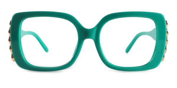9014 yvette Rectangle green glasses