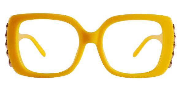 9014 yvette Rectangle yellow glasses